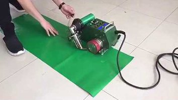 Graphic Banner Welder Model A Working Process