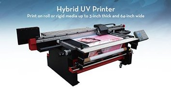 Hybrid UV Printer SinoColor HUV-1600 for both Flatbed and Roll to Roll UV Printing