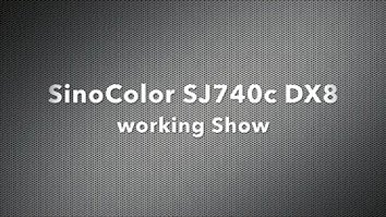 Better than Epson DX5! SinoColor SJ-740C with Epson DX8 (TX800) Printhead